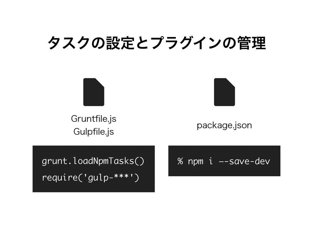grunt.loadNpmTasks() require('gulp-***') % npm ...
