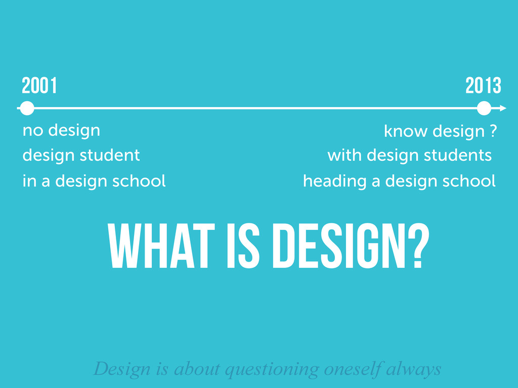 2013 no design know design ? 2001 WHAT IS DESIG...