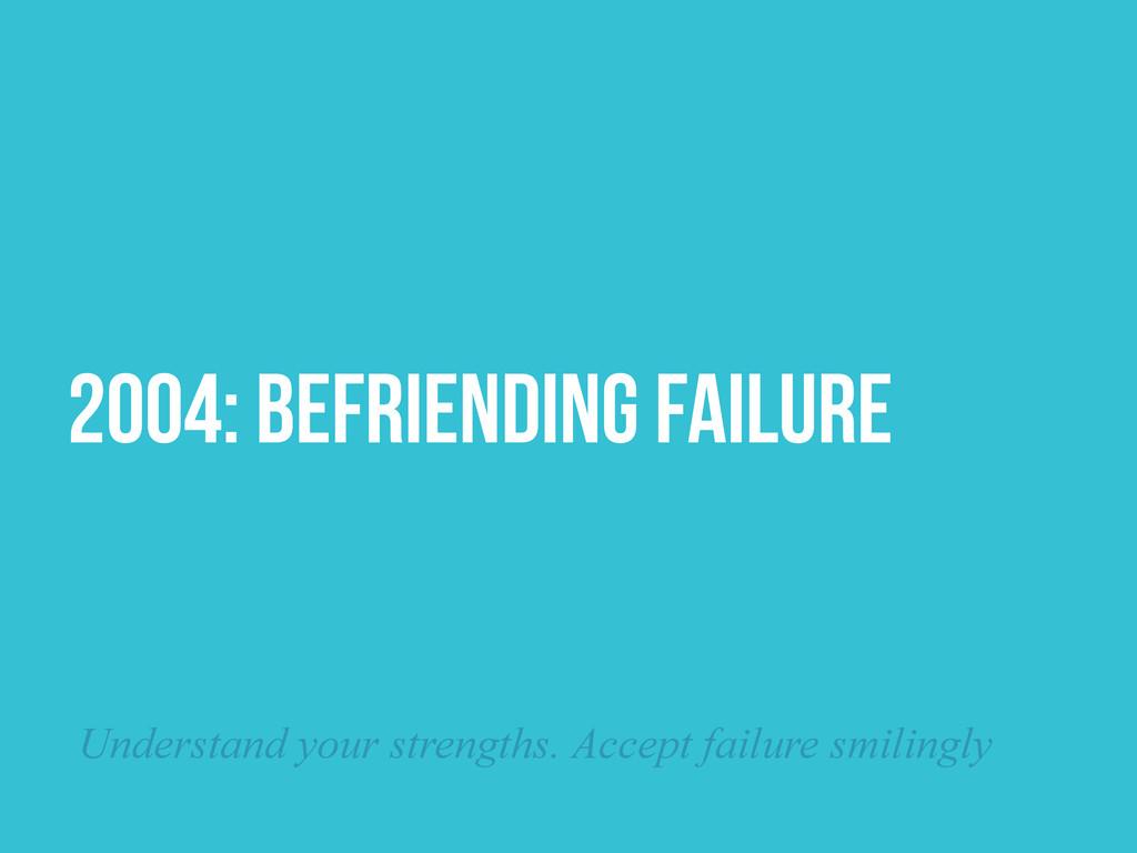 2004: BEFRIENDING FAILURE Understand your stren...