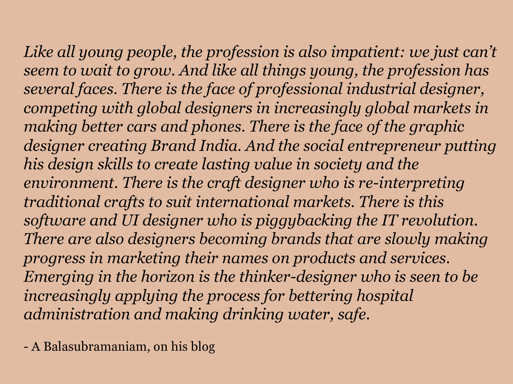 Like all young people, the profession is also i...
