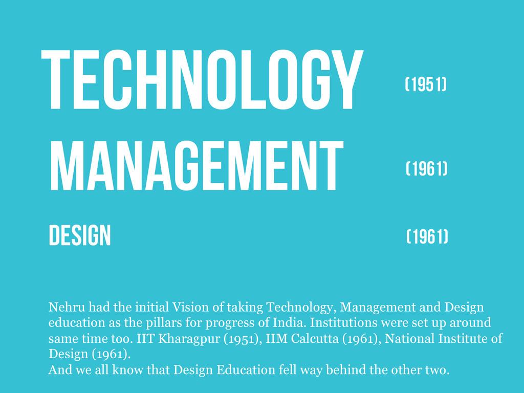 DESIGN TECHNOLOGY MANAGEMENT (1951) (1961) (196...