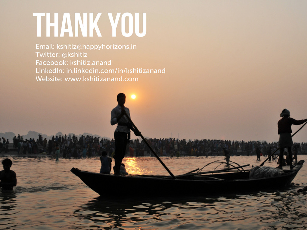 THANK YOU Email: kshitiz@happyhorizons.in Twitt...