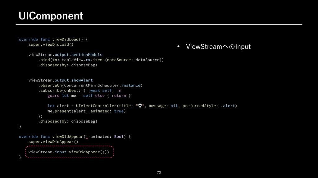 6*$PNQPOFOU  override func viewDidLoad() {   ...