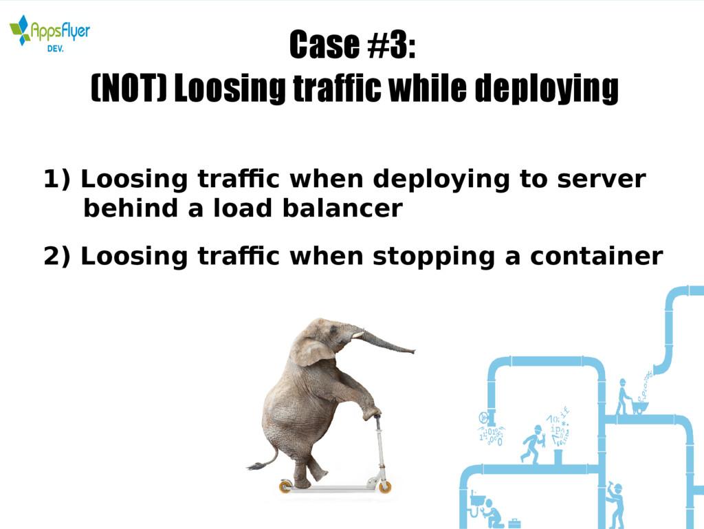 Case #3: (NOT) Loosing traffic while deploying ...