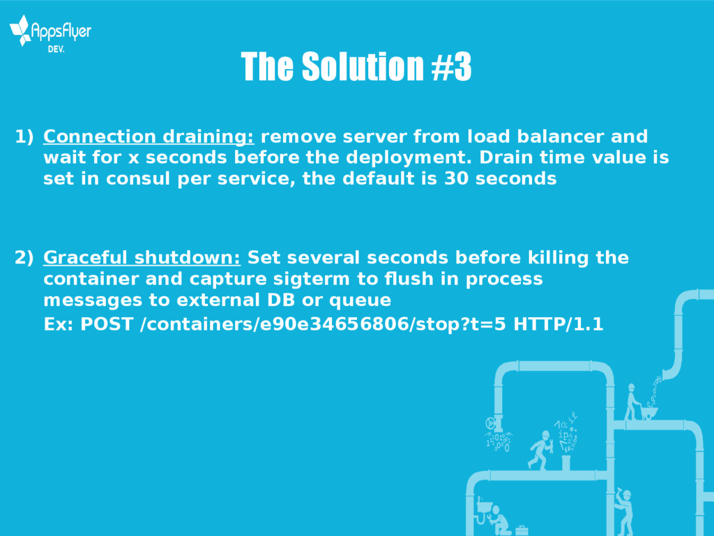 The Solution #3 1) Connection draining: remove ...