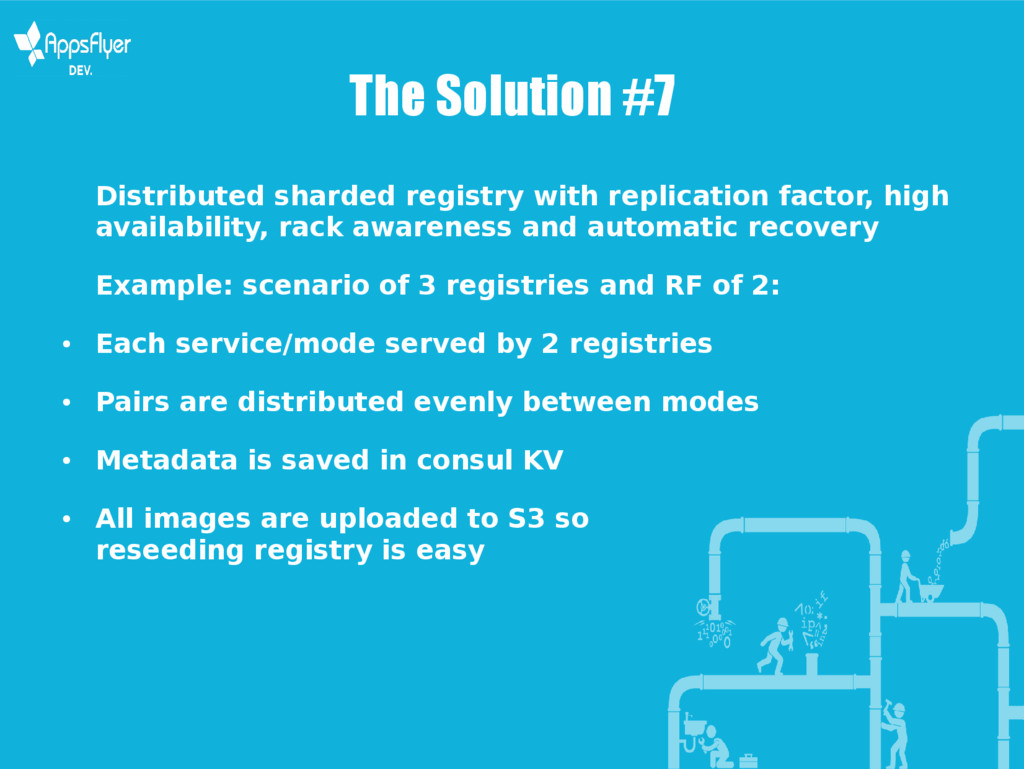 The Solution #7 Distributed sharded registry wi...