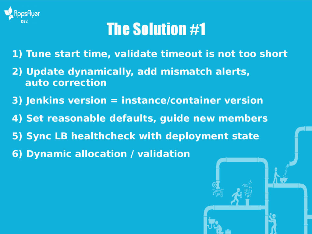 The Solution #1 1) Tune start time, validate ti...