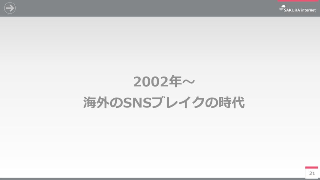 21 2002年~ 海外のSNSブレイクの時代 21