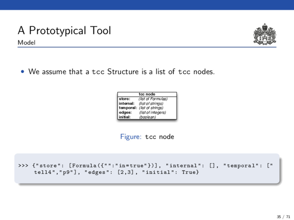 A Prototypical Tool Model • We assume that a tc...