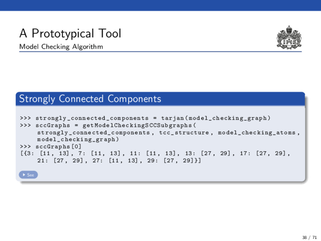 A Prototypical Tool Model Checking Algorithm St...