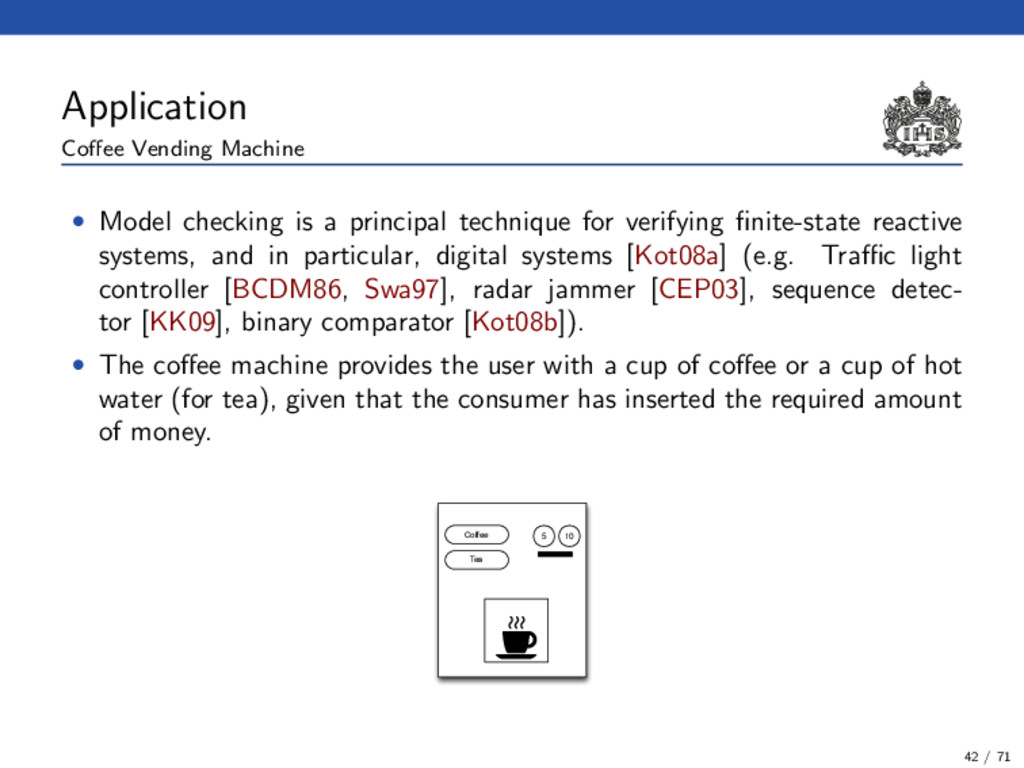 Application Coffee Vending Machine • Model check...
