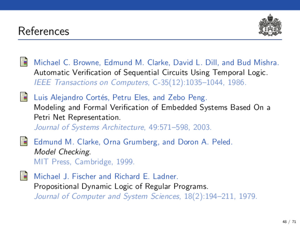 References (1) Michael C. Browne, Edmund M. Cla...