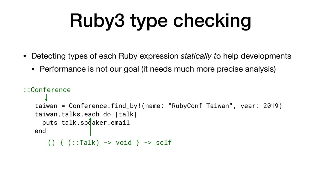 Ruby3 type checking • Detecting types of each R...