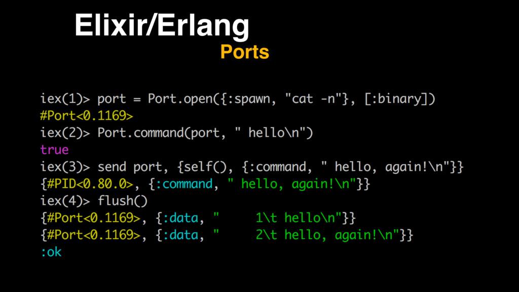 Elixir/Erlang Ports