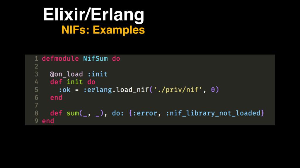 Elixir/Erlang NIFs: Examples