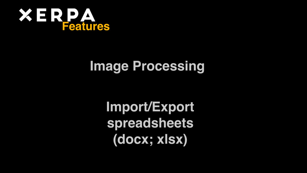 Image Processing Import/Export  spreadsheets ...