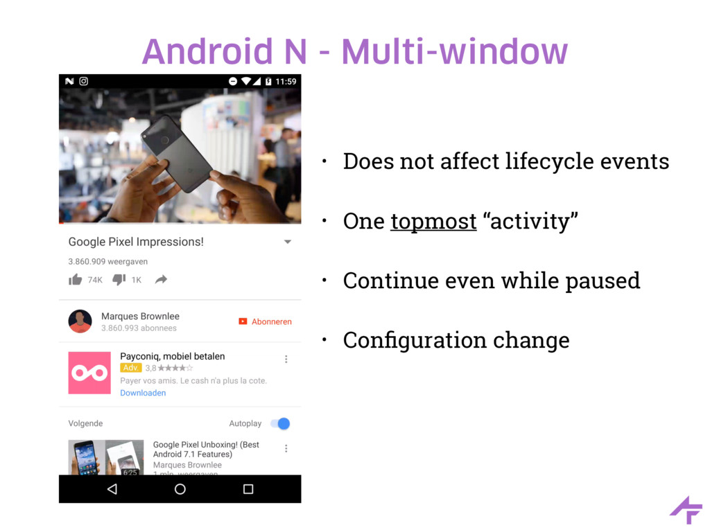 Android N - Multi-window • Does not affect life...
