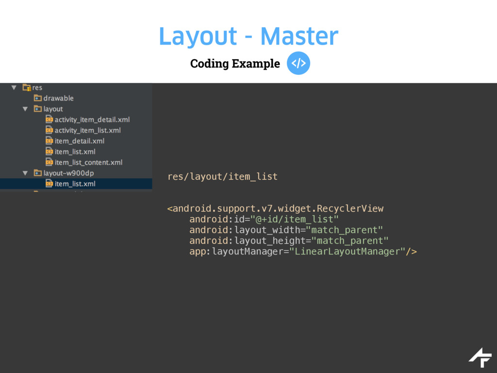 Coding Example Layout - Master res/layout/item_...