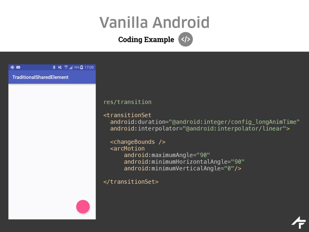 Coding Example Vanilla Android res/transition <...