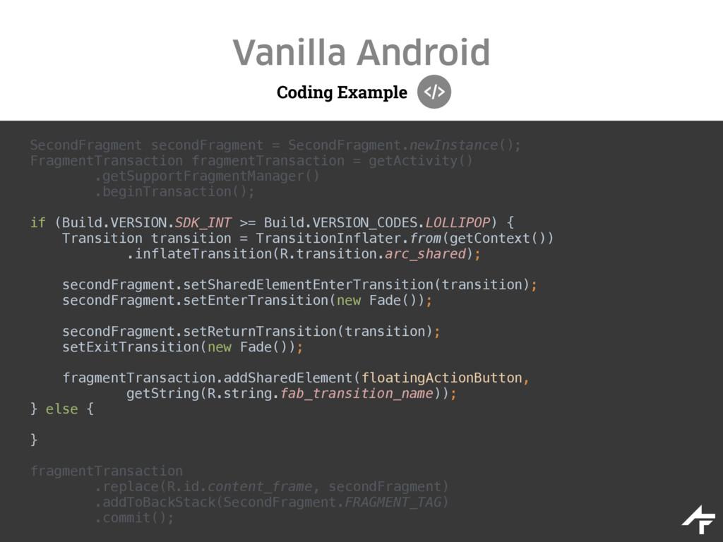 Coding Example Vanilla Android SecondFragment s...