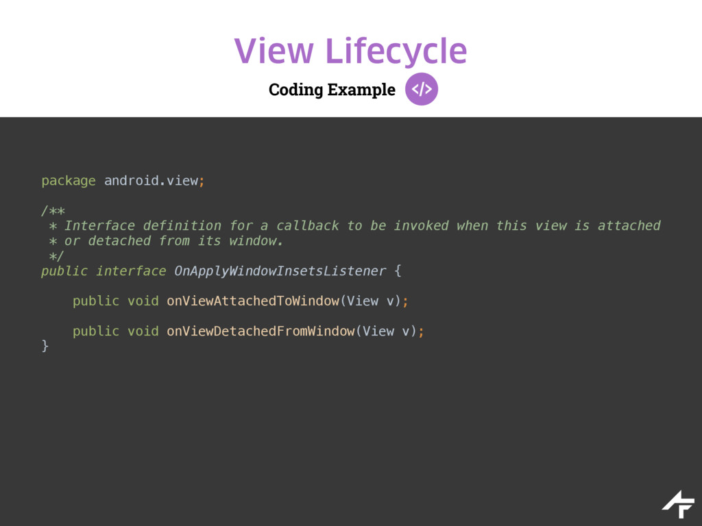 Coding Example View Lifecycle package android.v...