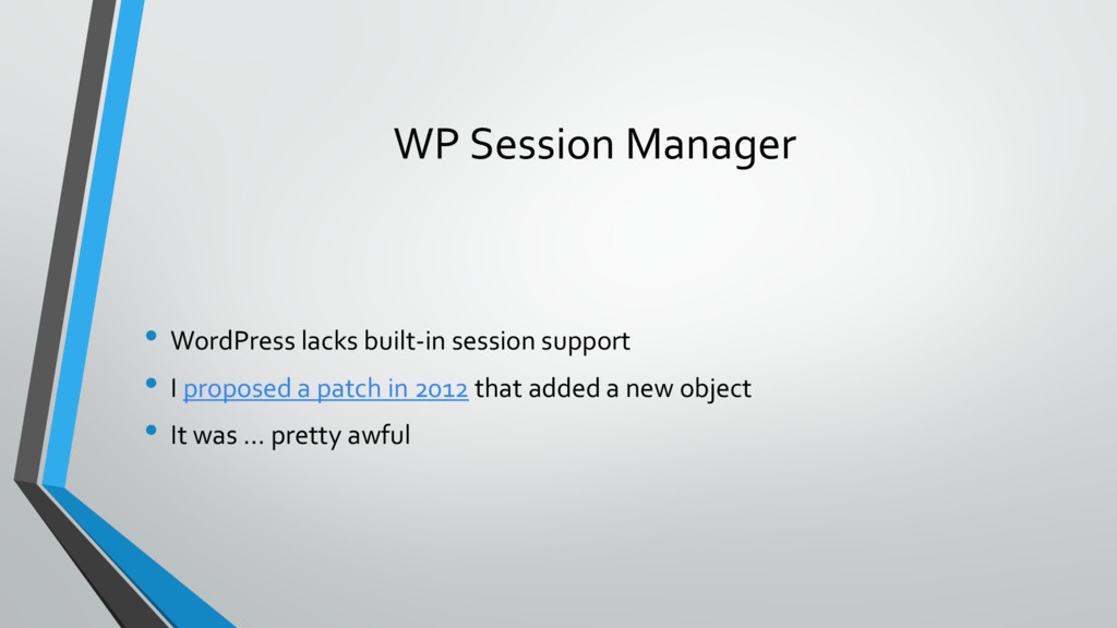 WP Session Manager • WordPress lacks built-in s...
