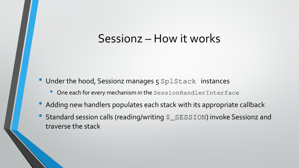 Sessionz – How it works • Under the hood, Sessi...