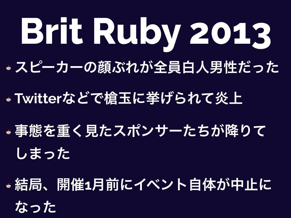Brit Ruby 2013  εϐʔΧʔͷإͿΕ͕શһനਓஉੑͩͬͨ  TwitterͳͲͰ...