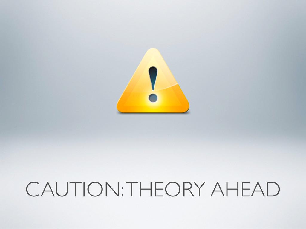 CAUTION: THEORY AHEAD