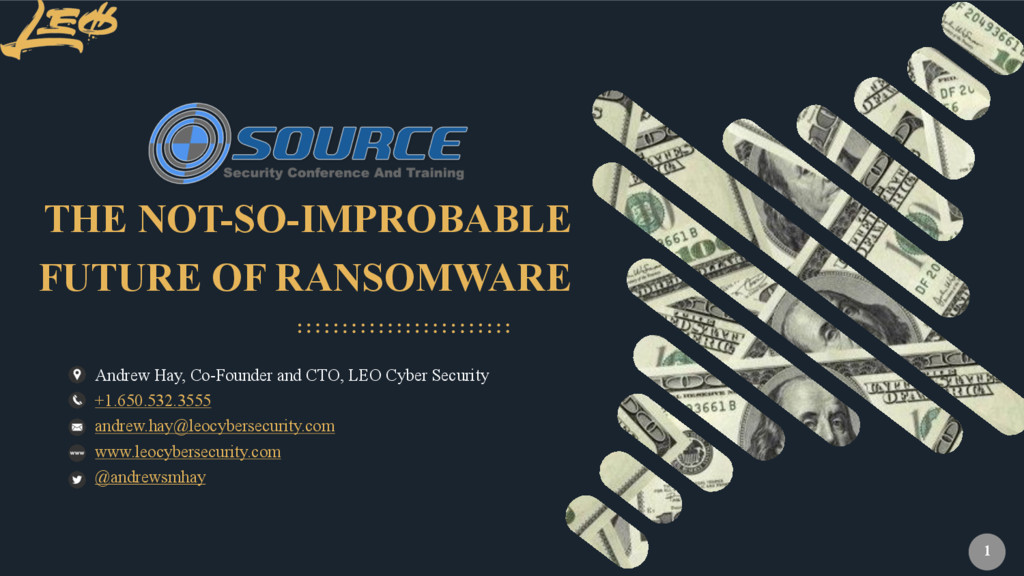 www.leocybersecurity.com 1 FUTURE OF RANSOMWARE...