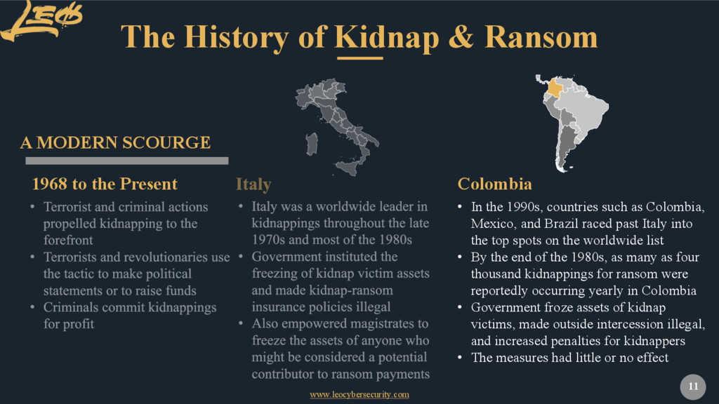 www.leocybersecurity.com 11 The History of Kidn...