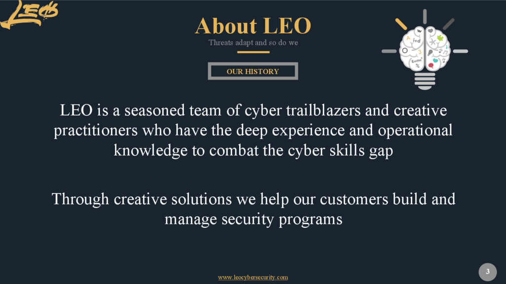 www.leocybersecurity.com 3 LEO is a seasoned te...