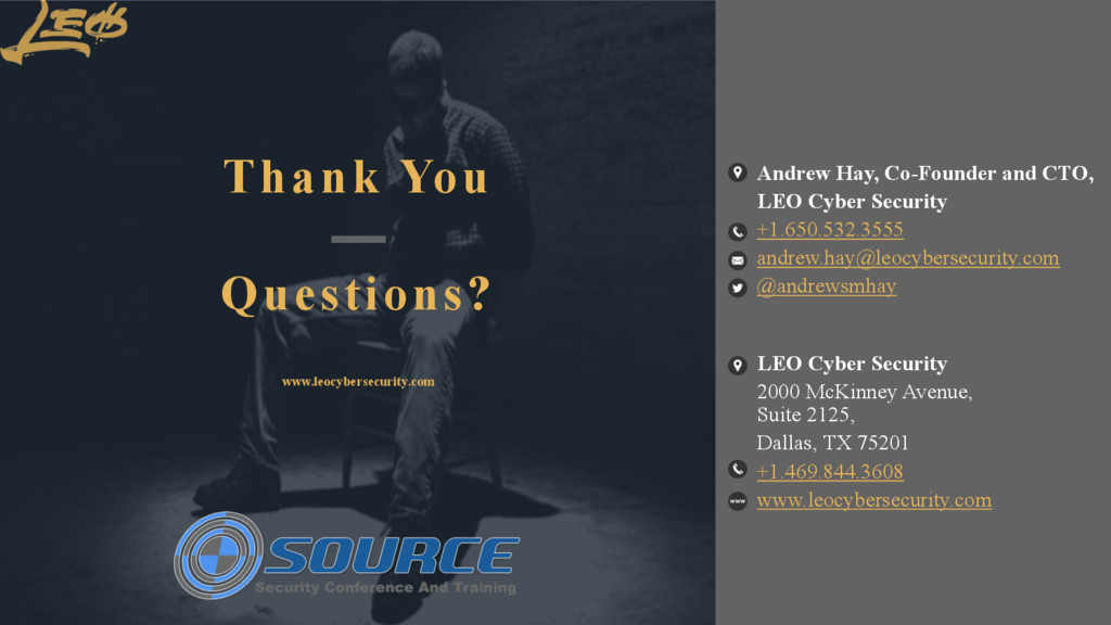 www.leocybersecurity.com 58 Thank You Questions...