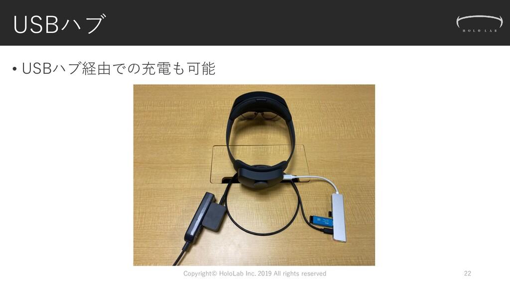 USBハブ Copyright© HoloLab Inc. 2019 All rights r...