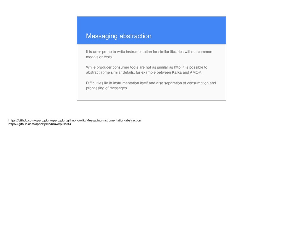 Messaging abstraction It is error prone to writ...