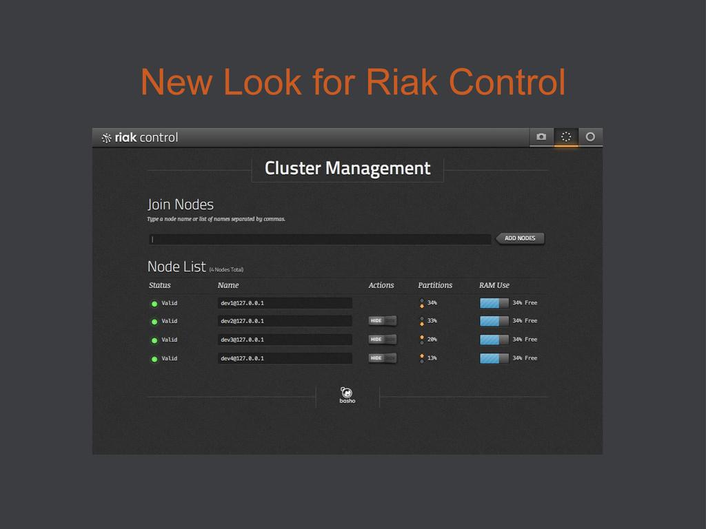 New Look for Riak Control
