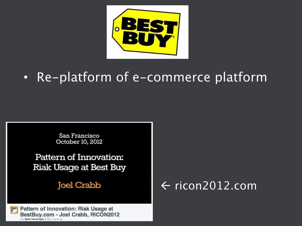 ß ricon2012.com • Re-platform of e-commerce ...