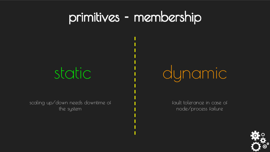 primitives - membership static dynamic fault to...