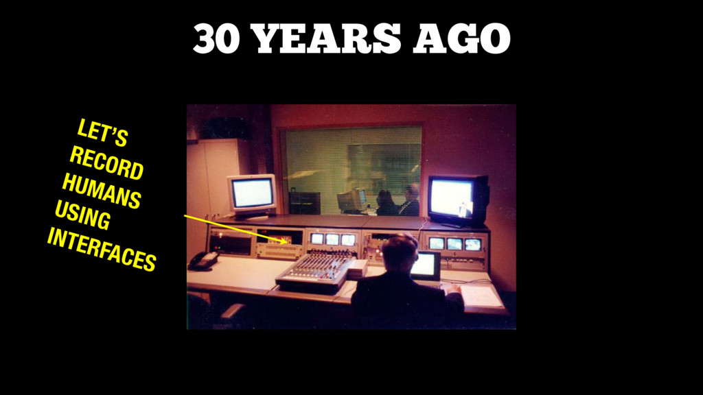 LET'S RECORD HUMANS USING INTERFACES 30 YEARS A...