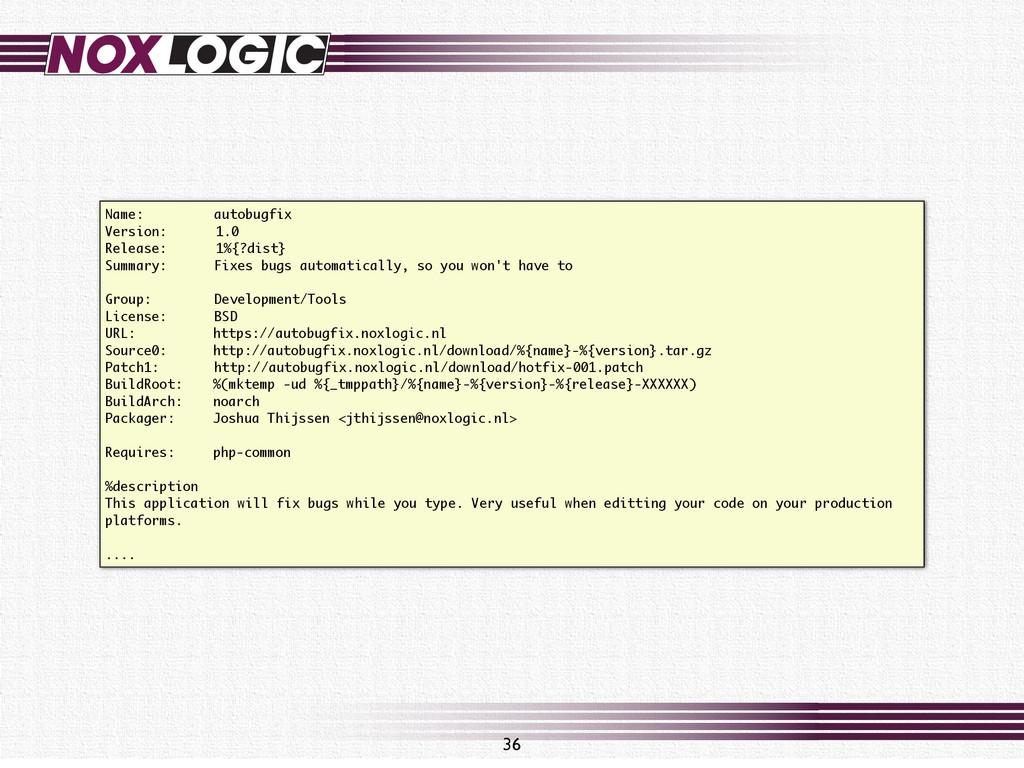 Name: autobugfix Version: 1.0 Release: 1%{?dist...