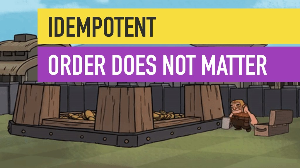 IDEMPOTENT ORDER DOES NOT MATTER