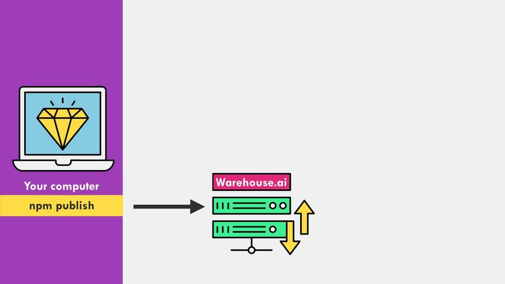 Your computer npm publish Warehouse.ai