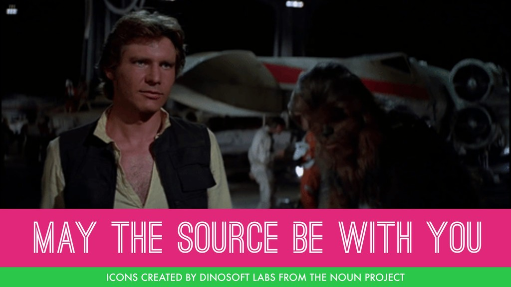 MAY THE SOURCE BE WITH YOU ICONS CREATED BY DIN...