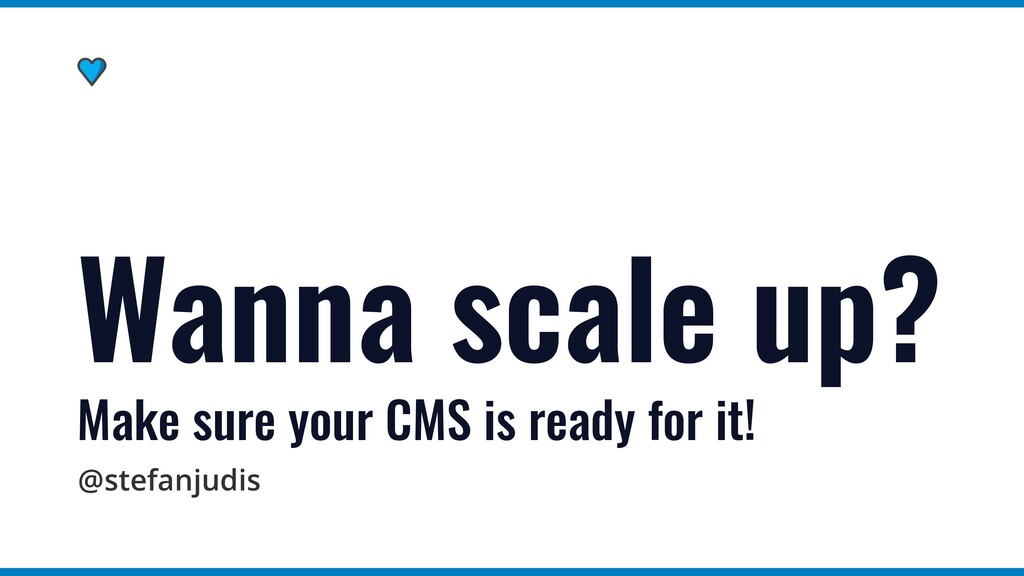 @stefanjudis Wanna scale up?   Make sure your C...