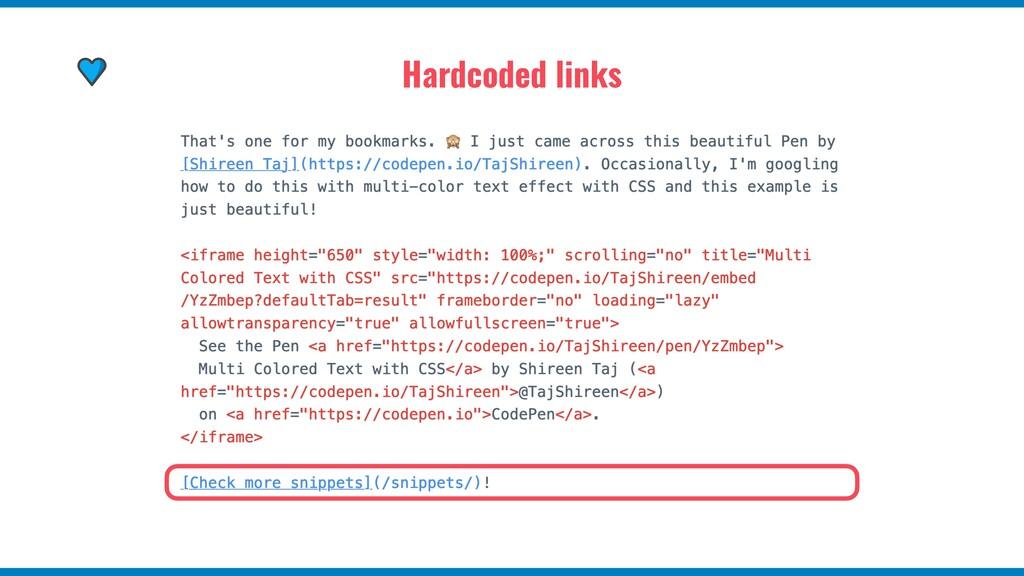 Hardcoded links