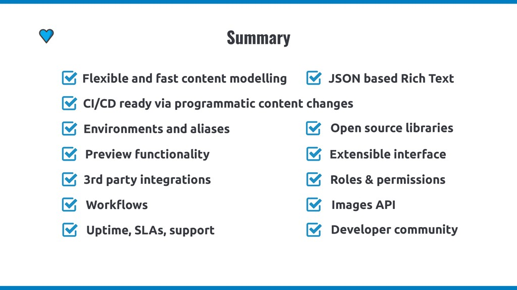 Summary Flexible and fast content modelling CI/...