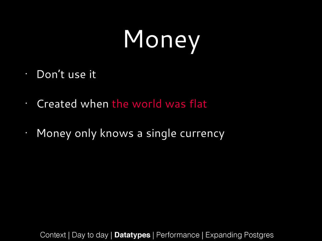 Money • Don't use it • Created when the world w...
