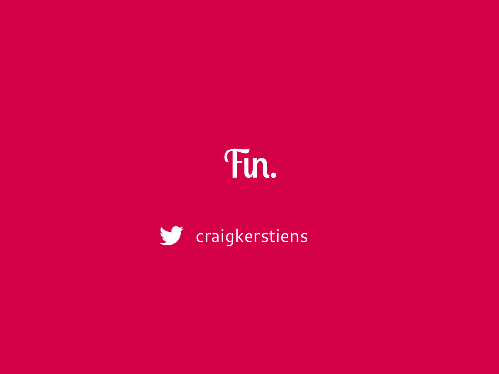 Fin. craigkerstiens