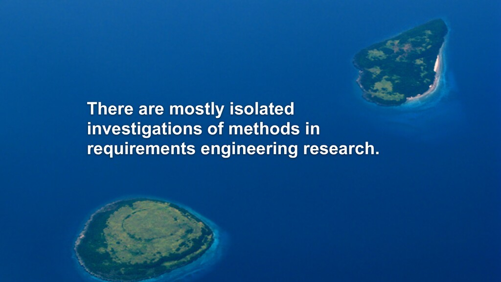 There are mostly isolated investigations of met...
