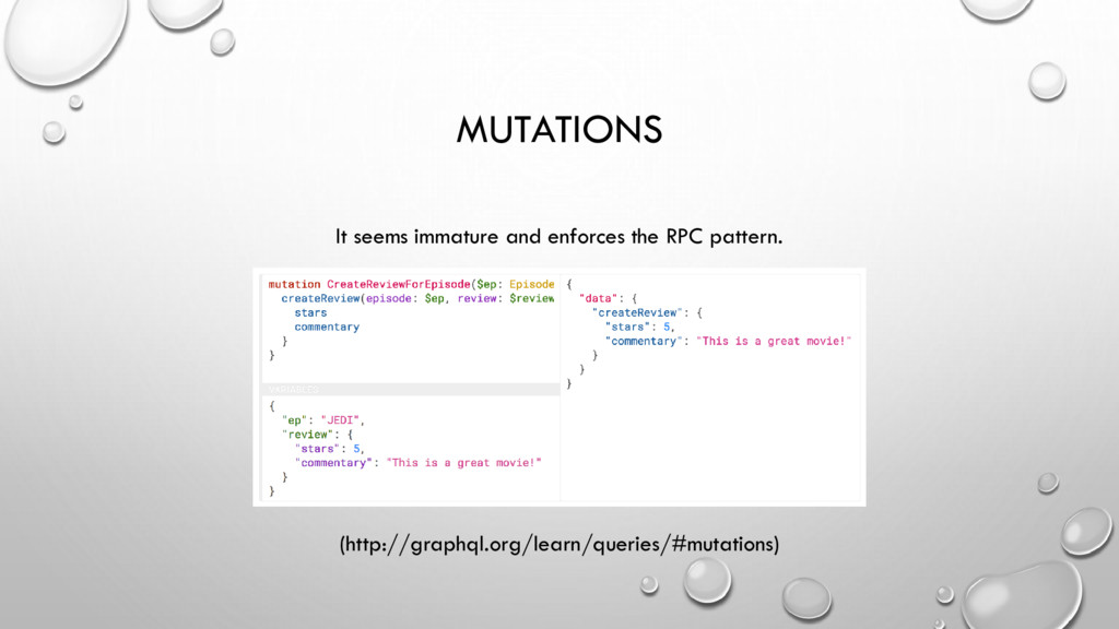 MUTATIONS It seems immature and enforces the RP...